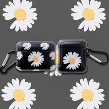 Cute For Airpods pro Case Silicone Apple Airpods2 1 3Case Daisy Cartoon Soft Earphone Protect Cover Flowers With Keychain