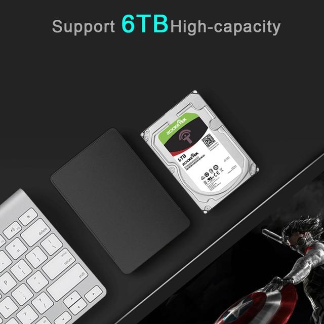 Rocketek HDD Caso 2.5 pollici SATA a USB 3.0 SSD Adattatore Hard Disk Drive Box Esterno HDD per Notebook desktop PC 3
