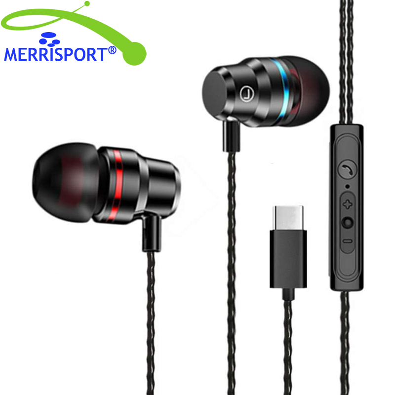 In-Ear <font><b>Earphone</b></font>, Earbuds with Wire-Controlled Mic Type-C USB-C <font><b>Earphone</b></font> <font><b>Noise</b></font> <font><b>Cancelling</b></font> Earbuds for pnone, iPad Pro/MacBook image