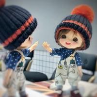 OB11 doll 1/8 BJD doll OB11 doll EGGY/Laugh makeup head+eyes+wig+clothe set+shoes