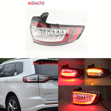 MIZIAUTO Outer side Rear tail Light For Ford Edge 2013 2019 Tail Stop Brake Lights Car Accessories Rear turn signal Fog lamp