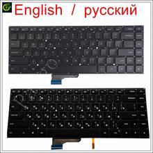 English / Russian New Backlit Keyboard for Xiaomi Mi notebook Pro 15.6 inch air laptop 9Z.NEJBV.101 NSK Y31BV 171501 mx250 RU US