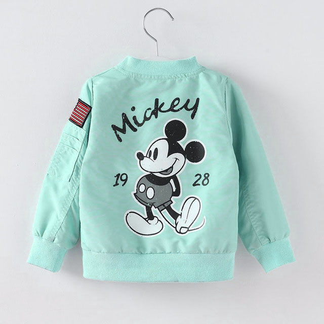 2020 Mickey Denim Jacket For Boys Fashion Coats Children Clothing Autumn Baby Girls Clothes Outerwear Cartoon Jean Jackets Coat 5