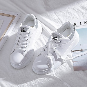Image 5 - SWYIVY Spring Shoes Woman Platform Sneakers White 2020 New Female Casual Shoes On Chunky Heel White Shoes For Woman Sneaker