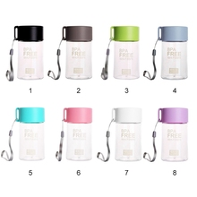 NEW 150ml Water Bottle Leakproof Transparent Bottles Portable Small With Rope Students Outdoor Plastic Safe