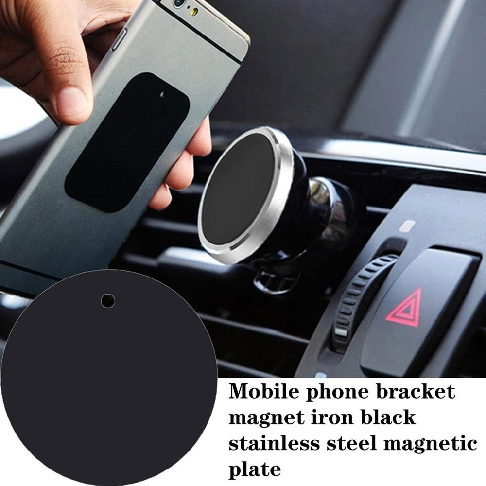 For Magnetic Car Phone Holder Replacement Metal Plate Disc GPS Mount Accessory Celular Holder Rectangular Round