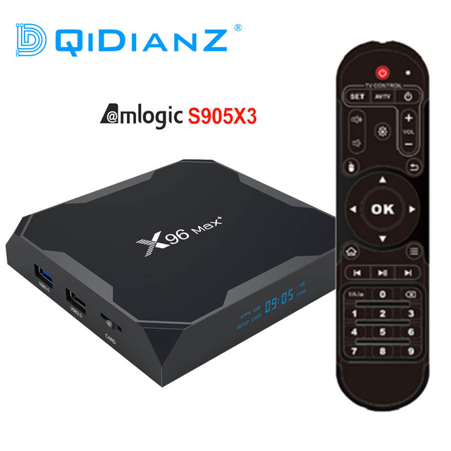 DQiDianZ TV BOX X96Max PLUS, Android 9,0, decodificador de señal con Amlogic S905X3, Quad Core, 4GB, 32GB, wi fi 2,4 GHz/5GHz, Bluetooth 4,1, 4K, X96 Max X2