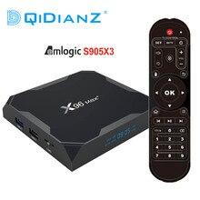 DQiDianZ X96Max בתוספת טלוויזיה תיבת אנדרואיד 9.0 Amlogic S905X3 Quad Core 4GB 32GB 2.4G & 5GHz wifi BT4.1 4K ממיר X96 מקס X2