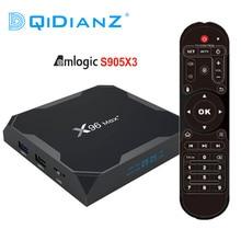 DQiDianZ X96Max PIÙ IL TV BOX Android 9.0 Amlogic S905X3 Quad Core 4GB 32GB 2.4G e 5GHz wifi BT4.1 4K Set top box X96 Max X2