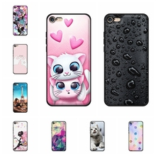 For Apple iPhone 6 Plus Cover Soft TPU Leather 6s Case Girl Patterned Shell Capa