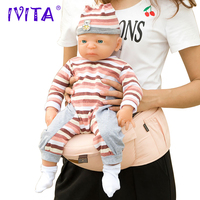 IVITA WG1511 54cm 4.9kg Alive Girl Full Body High Quality Silicone Reborn Dolls Baby Bath best Gift Toys for Kids
