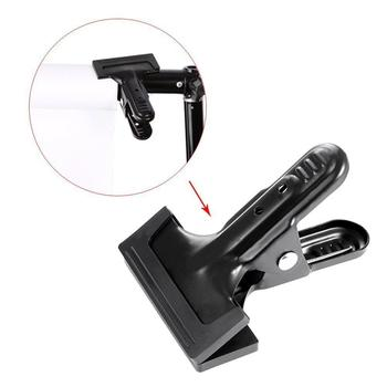 Photo Studio Photography Background Backdrop Cloth Stand Spring Clamp Strong Metal Rubber Coated Clip Bracket Holder
