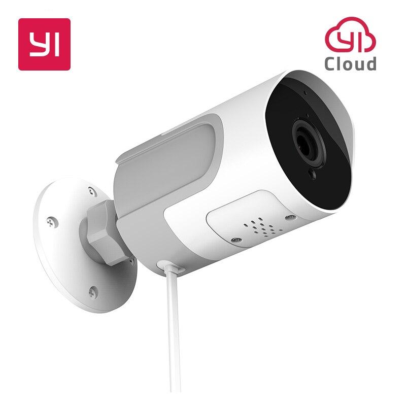 YI LoT Outdoor IP Camera 1080P HD SD Card Security Surveillance Camera Weatherproof Night Vision YI Cloud YI IOT APP