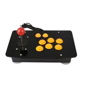 Image 1 - Acryl Null Verzögerung Arcade Fighting Stick USB Verdrahtete Computer Gaming Joystick Spiel Wippe Controller mit 8 Tasten Für PC Desktop