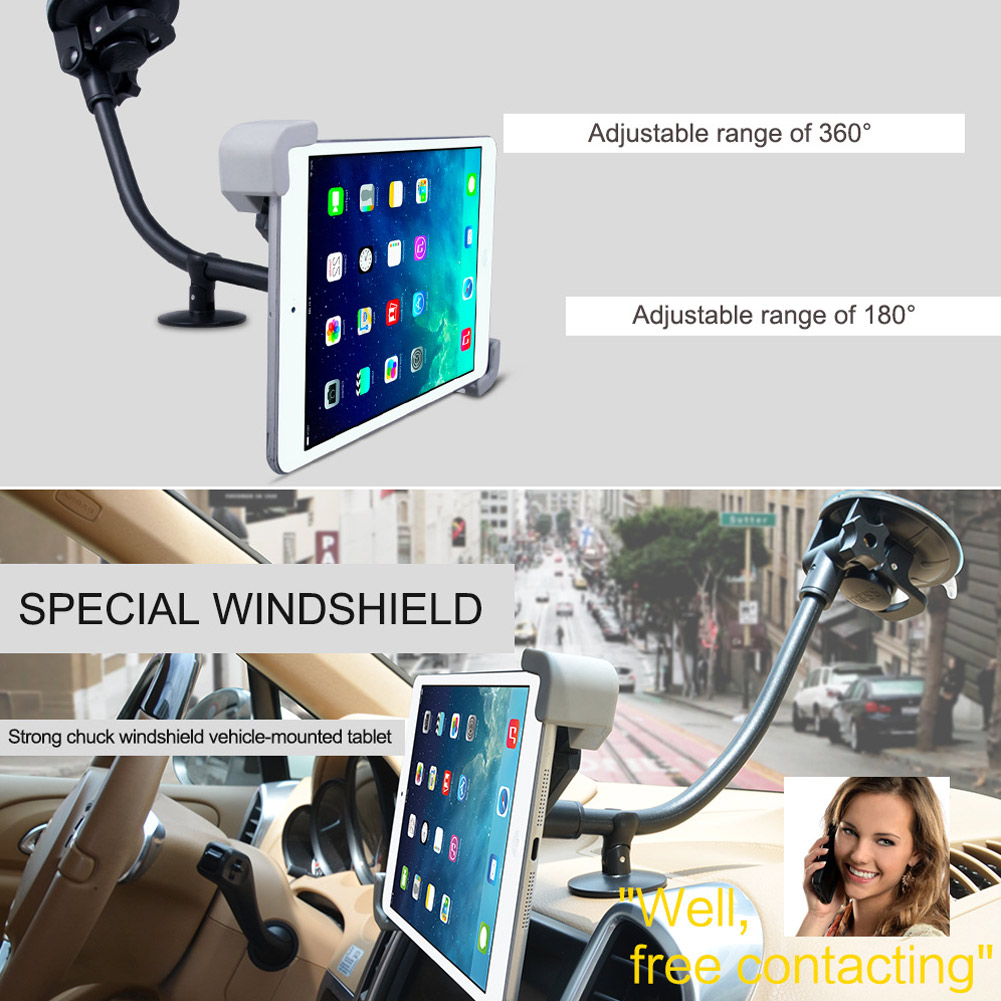 dropshipping Adjustable Car Tablet Stand Windshield 360 Degree Rotatable Holder for iPad Navigation OE88