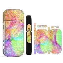 10 Kleuren Afdrukken Label Pvc Materiaal Antikras Decoratieve Skin Sticker Voor Iqos 2.4 Plus Fall Slip En Stijlvolle