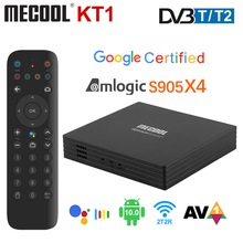 Mecool KT1 Google Certificated  TV Box Android 10 DVB-T/T2 Amlogic S905X4 AV1 4K 2T2R Dual WIFI BT Media Player Set-Top Box