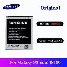 цена на 5pcs/lot Original SAMSUNG S3 Mini Battery EB-F1M7FLU 1500mAh For Samsung Galaxy S3 Mini i8190 i8160 i8200 Replacement Batteria