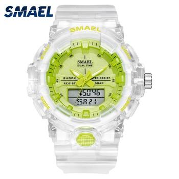 Woman Watch Quartz SMAEL Sports Watches 50M Waterproof Wristwatches Lady Jelly Starp Clock 8025 reloj mujer Ladies Women - discount item  38% OFF Women's Watches