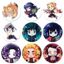 Anime Demone Slayer Kimetsu Fantasma Lama Fagiolo Cosplay Distintivo Del Fumetto Collezione Zaini Borse Pulsante Spilla Spille Regalo(China)