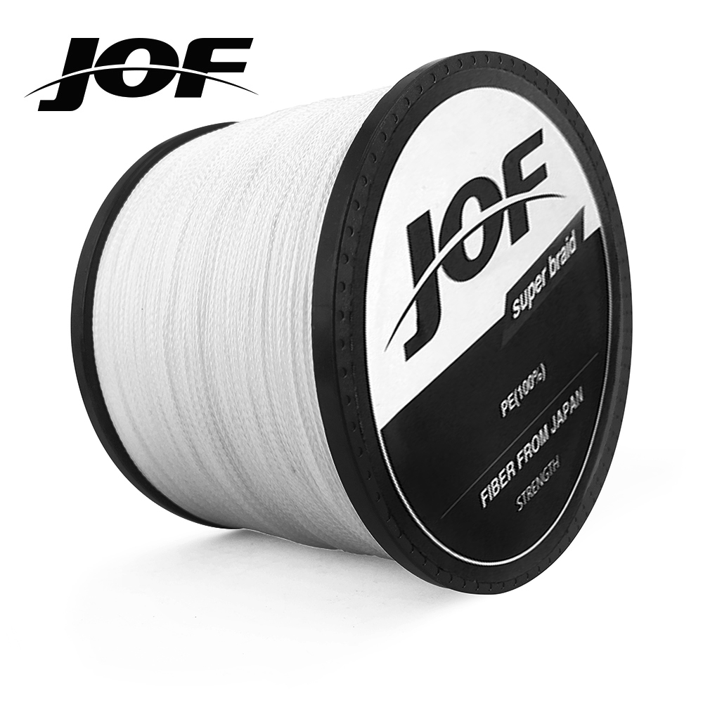4 Strands 1000M 500M 300M JOF PE Multicolor Braided Fishing Line 4 Weave Superior Extreme Strong 100% SuperPower