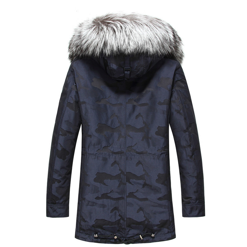 Rabbit Fox Collar Winter Coat Men Real Fur Parka Mens Clothing 2020 Casaco MA8211ME062 YY1145