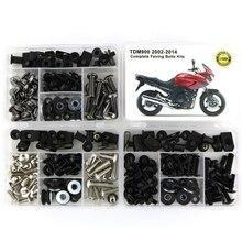 Für Yamaha TDM900 TDM 900 2002 2014 Motorrad Stahl Komplette Volle Verkleidung Schrauben Kit Verkleidung Clips Körper Schrauben Muttern