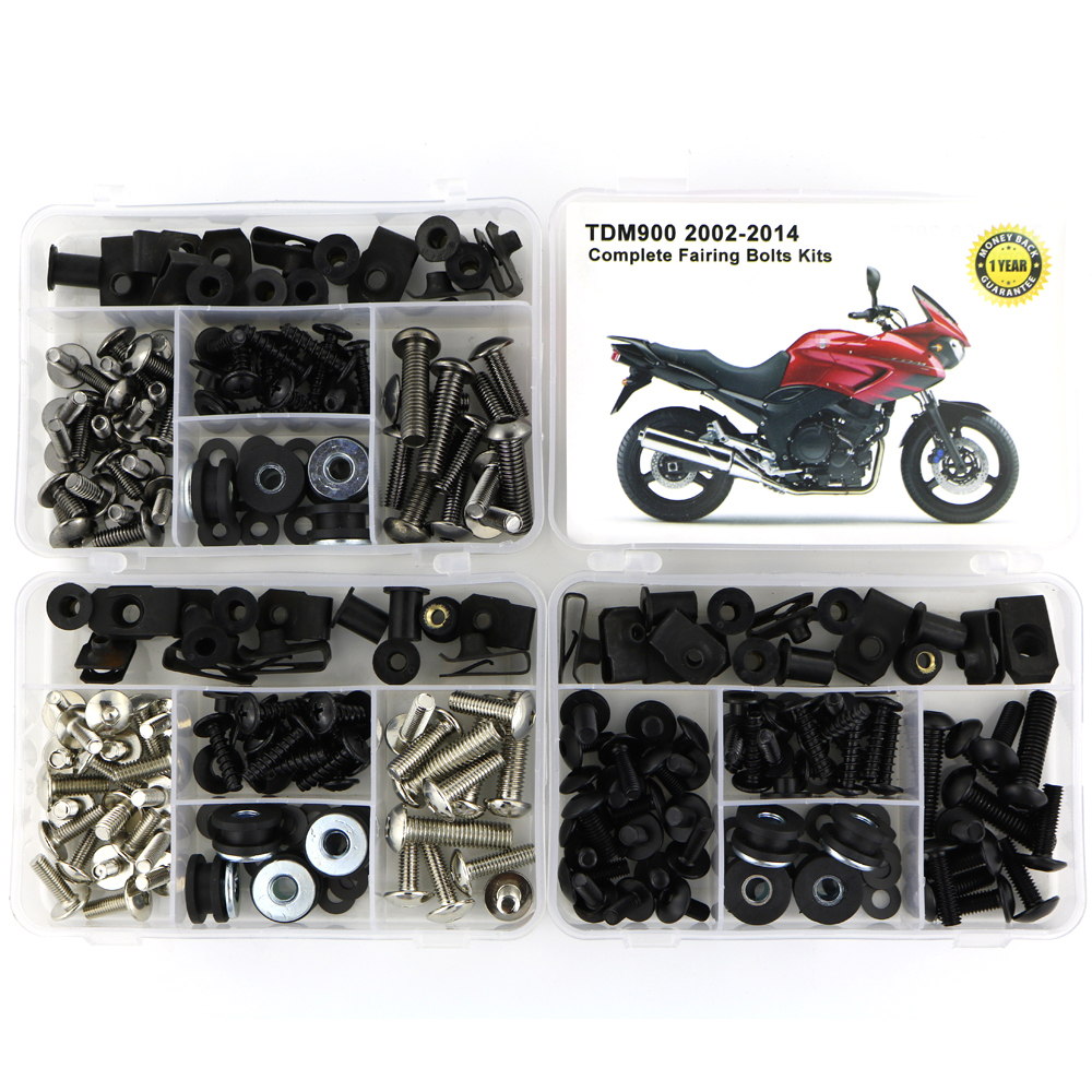 For Yamaha TDM900 TDM 900 2002-2014 Motorcycle Steel Complete Full Fairing Bolts Kit Fairing Clips Body Screws Nuts