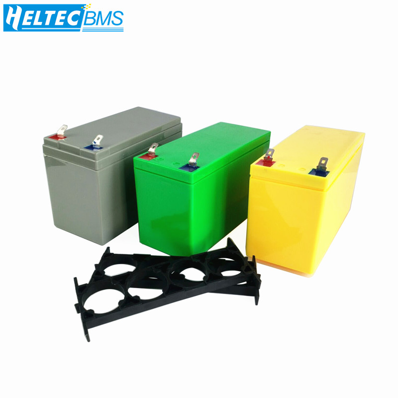 Battery Box 32650 Lithium Iron Phosphate/Lifipo4 Battery Box 3.2V6.4V Power Bracket 9.4V12.8V Moped ABS Fixed Box