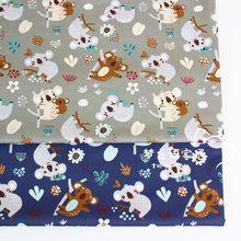 160 centímetros * 50 centímetros Koala recém-nascidos vestuário vestido de algodão tecido da cama DIY tecido patchwork crianças trabalho manual algodão pano tecido