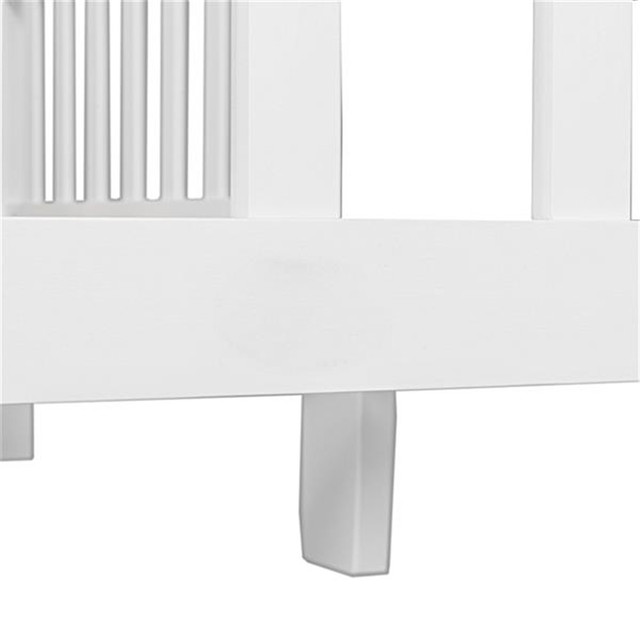 Wooden Baby Toddler Bed Children Bedroom Furniture with Safety Guardrails White 2