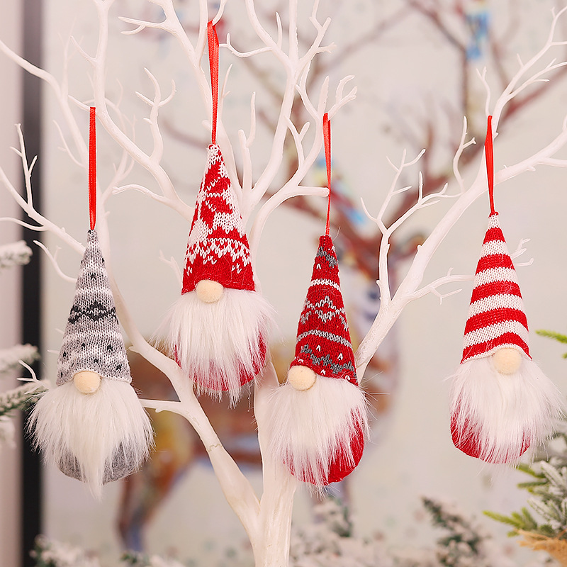 Christmas Tree Decorations Christmas Faceless Doll Toys Hanging Christmas Decorations for Home Navidad 2020 Xmas Gift New Year