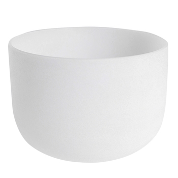 8Inch Note Perfect Sound Chakra Frosted Quartz Crystal Singing Bowl