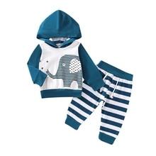 Newest Autumn Baby Girl Long Sleeve Cartoon Print Hoodie Sweatshirt Tops+Striped Pants Trouser Costume Set father christmas costume lip print long sleeve hoodie