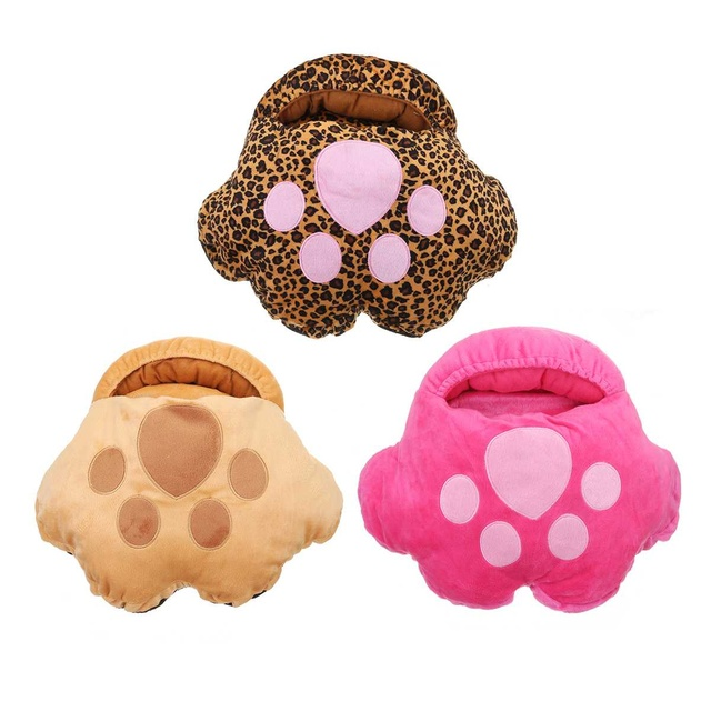 3Color Electric Heated Foot Warmer Massager Footwear Footwear Men Women color: Khaki|Leopard|Pink