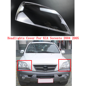 Front headlamps transparent lampshades lamp shell headlights cover For KIA Sorento 2004 2005