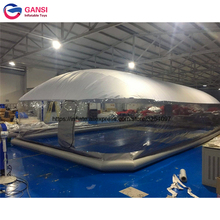 цена PVC inflatable swimming pool tent inflatable pool dome for sale/ inflatable transparent dome tent for sale в интернет-магазинах