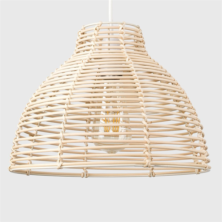 Rattan Pendant Lights Creative Art Deco Hanglamp Chinese Style Hanging Lamps Home Deco Maison Living Room Bedroom Suspension LED