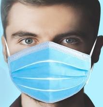 3 Laye Masker Stof Bescherming Maskers Wegwerp Gezichtsmaskers Elastische Oor Lus Wegwerp Stoffilter Veiligheid Masker Anti stof