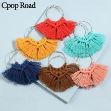Cpop Boho Fashion Handmade Weave Macrame Earring Ethnic Elegant Vintage Tassel Wedding Jewelry Hot Sale Accessories Gift