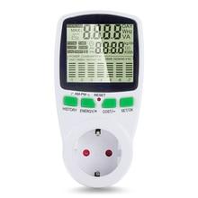 Интеллектуальный измеритель мощности переменного тока, ваттметр, Биллинговая розетка, счетчик энергии, кВтч, напряжение, Частота тока, монитор электроэнергии, EU/US/UK Plug