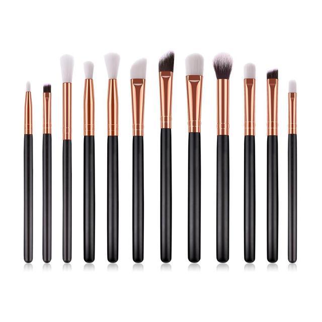 SAIANTTH 12pcs eyes  makeup brushes set tool Make up Toiletry Kit Wool Brand pincel maleta de maquiagem Nose Shadow Eyeliner lip 4