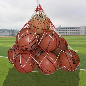 Портативный большой карман для мячей, твердый, для волейбола, футбола, баскетбола, Сетчатая Сумка, красный и белый, сшитые принадлежности для улицы