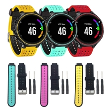 OOTDTY Soft Silicone Watch Strap Band For Garmin Forerunner 220 230 235 620 630 Smart Watch Replacement Accessories 21mm soft silicone strap replacement watch bands tools lugs adapters for garmin forerunner 230 235 220 watch watch accessories
