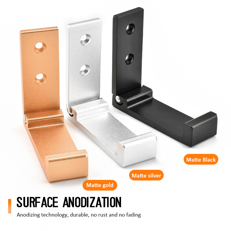 Soportes plegables para auriculares profesionales de aleación de aluminio, gancho de suspensión de pared, soporte para Sony Sennheiser JVC|Accesorios de auriculares| - AliExpress
