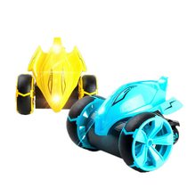 Oeak Wireless RC Car Tumbling Stunt Dump Truck Remote Control Toys For Children Electric Cool RC Cars Boy Birthday best Gift(China)
