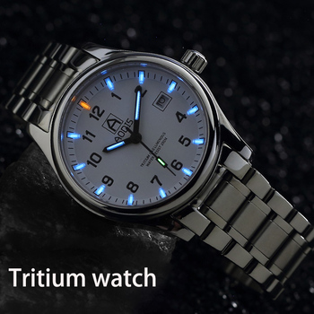 T25 Tritium Luminous Watch Men Military Mens Watches Sapphire crystal Quartz Wristwatch Male Clock Diving watch Men's watch luxury carnival tritium luminous t25 men s watches quartz military men 200m diver waterproof wristwatch