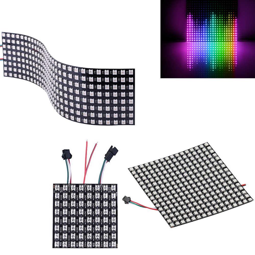 5V ws2812b completa sueño Color Panel led píxeles pantalla; SK6812 direccionable individualmente Digital matriz de 8x32x16x16 8x8