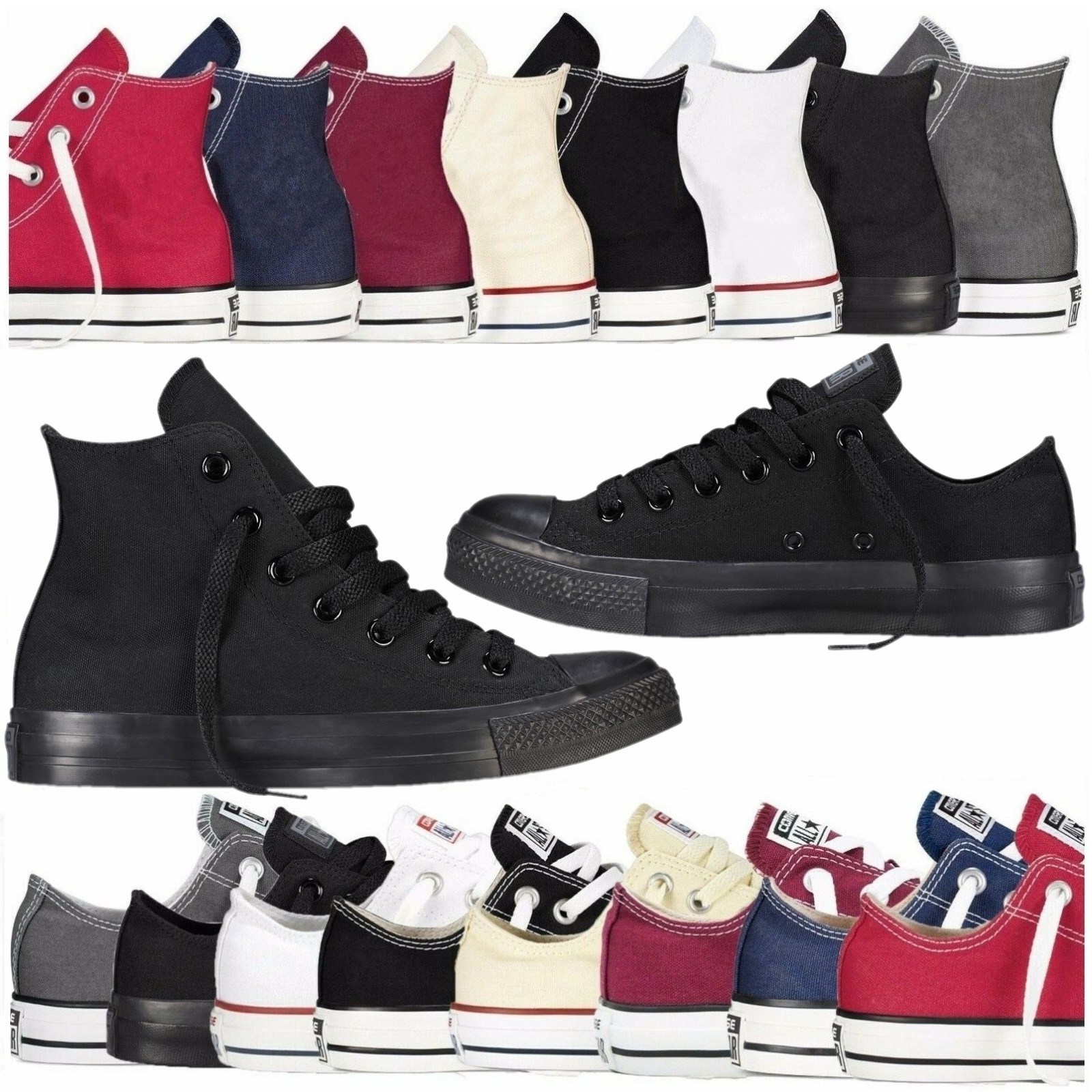 Unisex Men's & Women's Authentic Classic Allstar Designer Chuck-Taylor-Ox Low High Top Canvas Shoes Vulcanize Athletic Sneakers