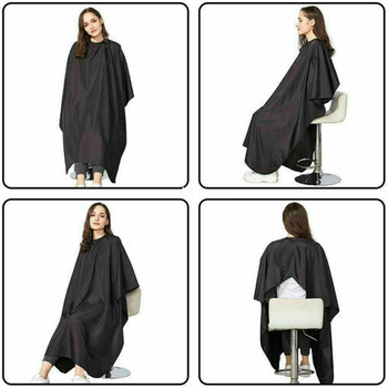 1pcs Hairdresser Cape Adult Salon Hair Cut Hairdressing Cape Gown Barber Cape Gown Cover Cloth Black Waterproof Barber Cloth pro salon hairdressing cape hairdresser hair cutting gown barber cape hairdresser cape gown cloth waterproof hair cloth d1